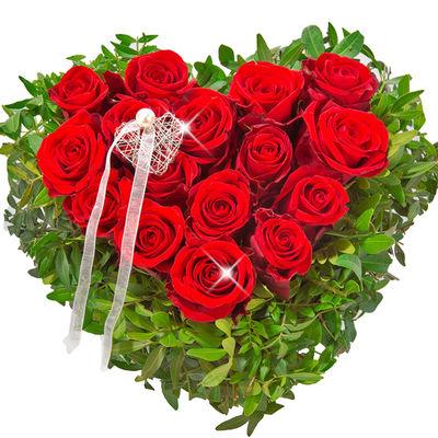 16 Kalp şeklinde Güller