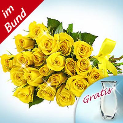 20 Adet Sarı Güllerden oluşan buket