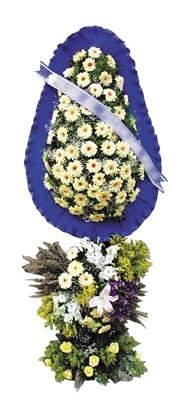 Beyaz gerbera ve beyaz lilyumlardan oluşan Düğün açılış çiçeği h=220x110 cm
