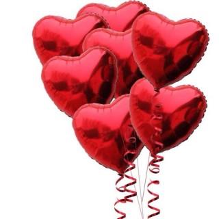 7 Kalp Folyo uçan Balon