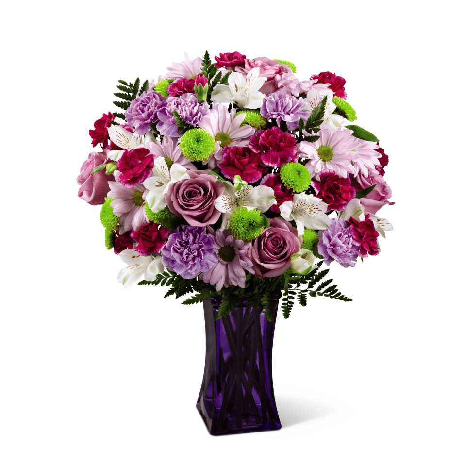 Lila Çiçeklerden Buket