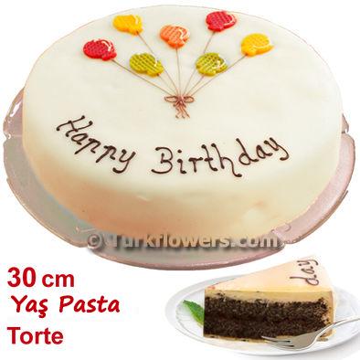Doğum günü için Yaş pasta 2500 Gram - 30 cm