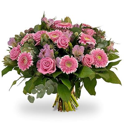 Pembe Renkli çiçeklerden oluşan Buket