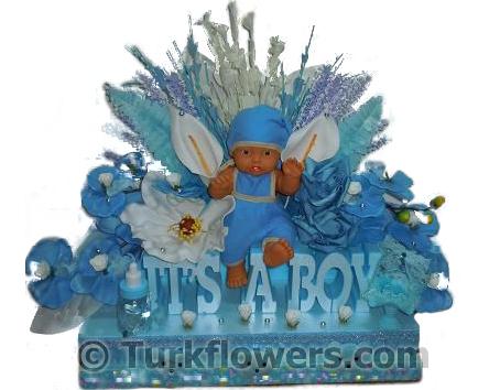 Yeni bebek çiçeği erkek bebek - Yapay