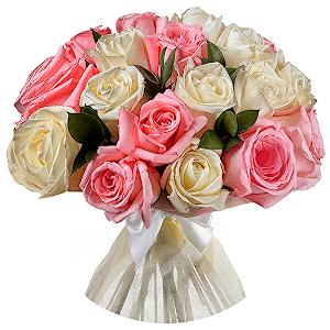 21 Pembe Beyaz Güller