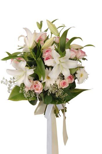 Karışık çiçeklerden mevsim buketi
