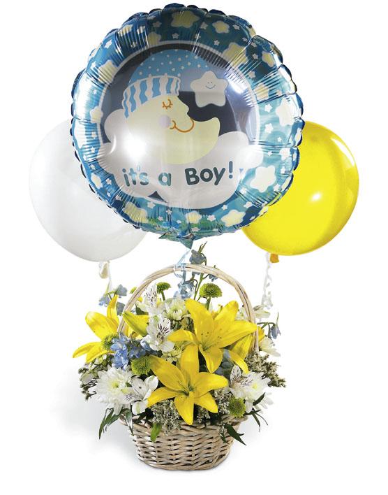Erkeke bebek doğum çiçeği