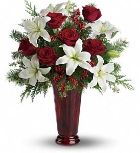 Kırmızı Güller ve lilyumlar buket