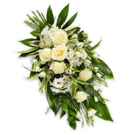 Beyaz Renkli Serpme cenaze Çiçeği