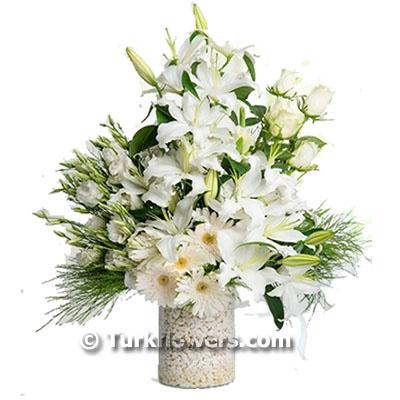 Beyaz Lilyum Aranjman
