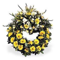 Sarı çiçeklerden Cenaze - Taziye çiçeği