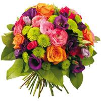 Renkli Mevsim çiçeği buketi