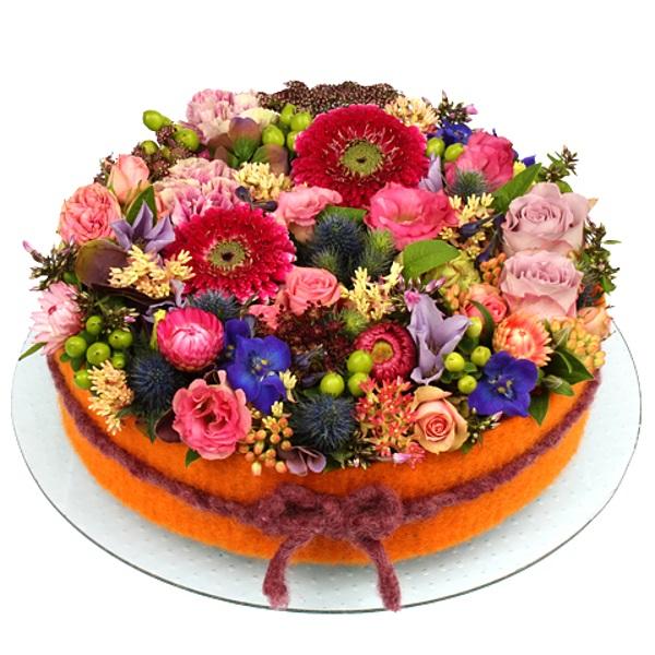 pasta şeklinde Neşeli çiçekler
