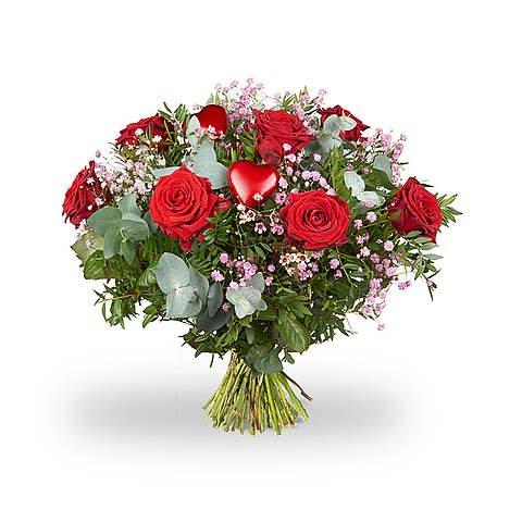 Kırmızı güller Ve Kalp aksesur