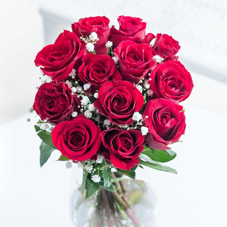 12 krımzı güller ve cipsolar