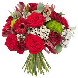 Kırmızı çiçeklerden oluşan buket