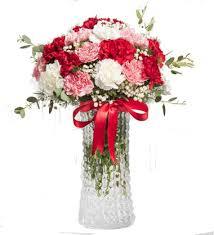 Renkli Mini Karanfillerden oluşan Anneler günü Çiçeği