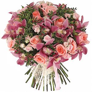 Pembe Güller Ve Orkide