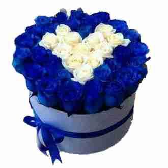 Kalp Şeklinde Mavi Güller