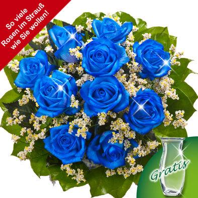 10 adet mavi gül 📦