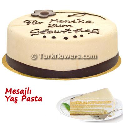 Mesajlı Yaş Pasta 600 Gram 16 cm