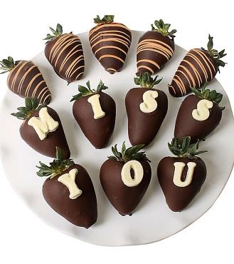 Özledim seni çikolatalı çilek