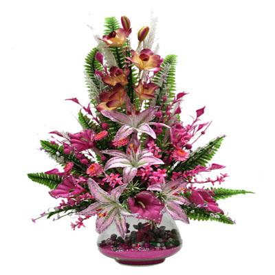 Büyük boy yapay çiçek aranjmanı