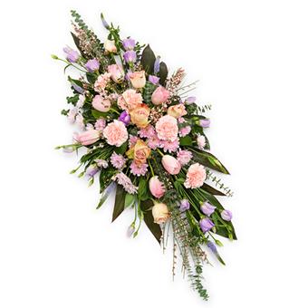 Pembe renkli Serpme cenaze Çiçeği