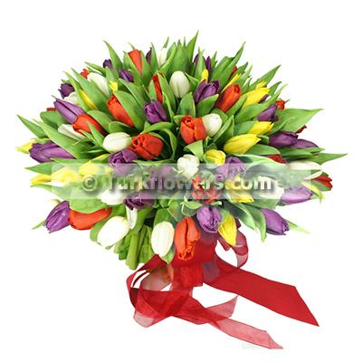 21 Adet lale Buketi - Mevsim çiçeği / Çiçekçi Önerisi