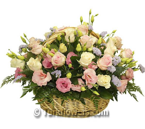 Pembe Çiçek sepeti