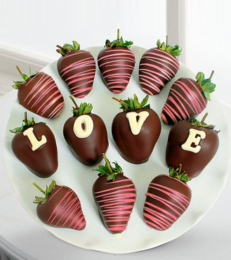 Sevgi ifadesi Çikolatalı çilek