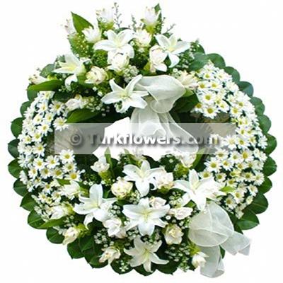 Beyaz cenaze - Taziye Çiçeği
